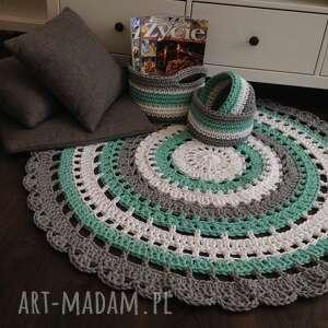 handmade dywany dywan ręcznie robiony okrągły ze