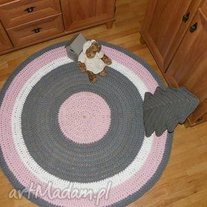 frapujące dywan ze sznurka ręcznie robiony okrągły ze