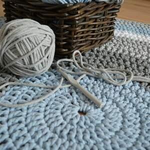 dywan dywany ręcznie robiony okrągły ze
