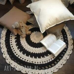 eleganckie szydełko ręcznie robiony okrągły dywan