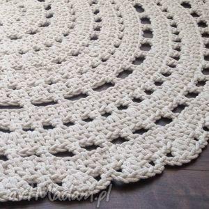 dywany szydełko ręcznie robiony okrągły dywan ze