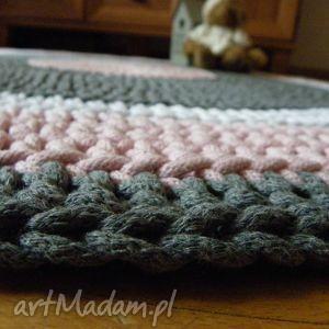 białe dywany szydełko ręcznie robiony okrągły dywan ze