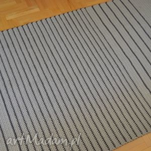 ręcznie wykonane dywany dywan szare paski