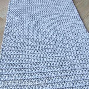 dywany bawełniany szary dywan ze sznurka 80x150 cm