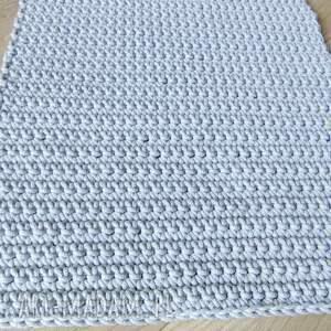 eleganckie dywany dywan szary ze sznurka 60 x 75 cm