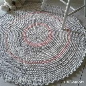 białe dywany dywanik szydełkowy dywan ze sznurka