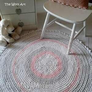 dywan dywany różowe szydełkowy ze sznurka