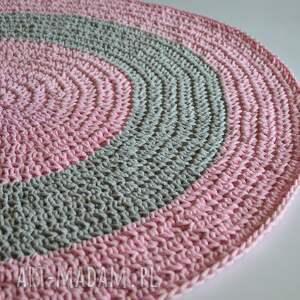 różowe dywany dywanik szydełkowy dywan ze sznurka