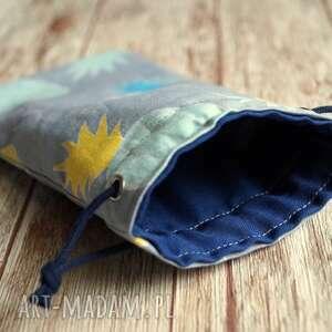 niebieskie etui słoneczne / bawełniany woreczek na