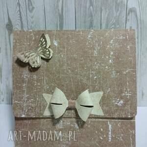 beżowe etui cd - brązowe motyle