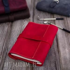 gustowne etui notes czerwone na dziennik, tablet