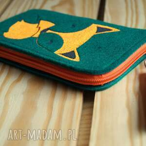 handmade etui smartfon filcowe na telefon - lisek