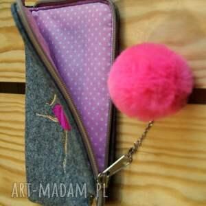 etui: Filcowe na telefon - baletnica - pokrowiec smartfon