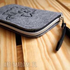 handmade etui smartfon filcowe na telefon - doggie