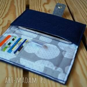 handmade etui smartfon filcowe na telefon i karty