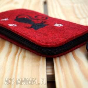 hand made etui smartfon filcowe na telefon - kotek