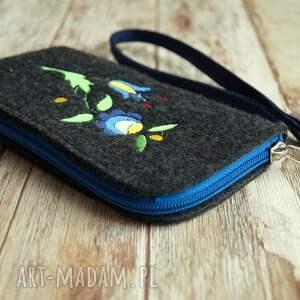 handmade etui smartfon filcowe na telefon - wzór
