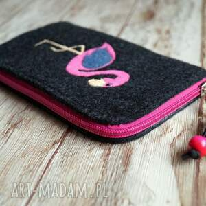 hand-made etui filcowe na telefon - flaming