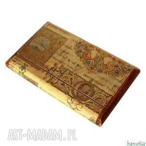 hand made etui wizytownik manuskrypt