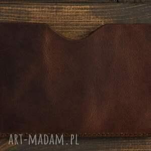 etui portfel na dokumenty (brązowy)