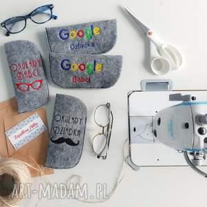 hand-made etui filcowe na okulary babci