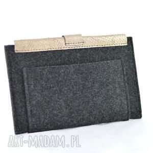 szare etui filc na tablet - 7 - grafitowy