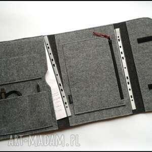 ręcznie zrobione etui organizer na dokumenty laptop