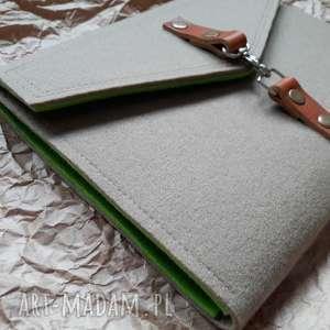 hand made etui organizer na tablet laptop skora