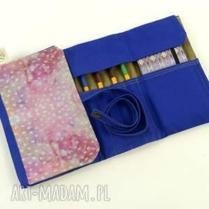 gustowne etui piórnik cosmic seeds pink&blue (duży)
