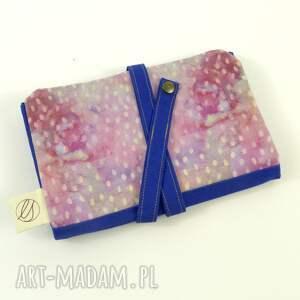 piórnik etui niebieskie cosmic seeds pink&blue (duży)