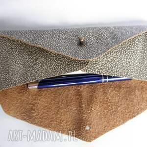 intrygujące etui piórnik skóra naturalna koperta