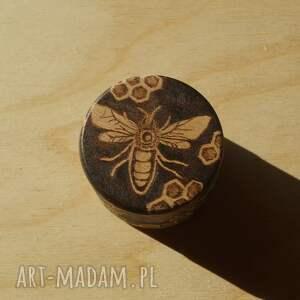hand made etui drewno pszczeli skarbczyk - puzderko
