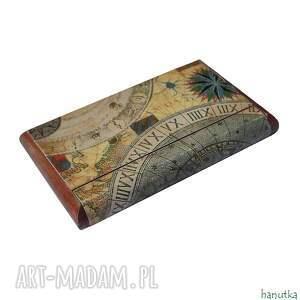 wizytówka etui brązowe elegancki, niezwykle oryginalny drewniany