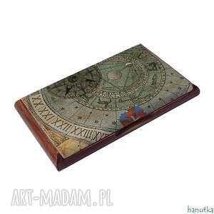 hanutka etui: Róża wiatrów - wizytownik, na karty płatnicze - Ręcznie wizytówka