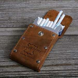 pudełko na papierosy etui skórzane na wersja