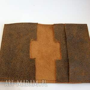 brązowe etui skóra skórzane na karty i dokumenty