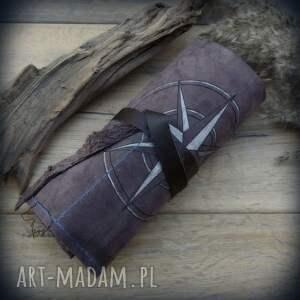 gustowne etui skórzany piórnik na ołóki i kredki