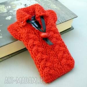 ręcznie robione etui smartfon sweterek na smartfona