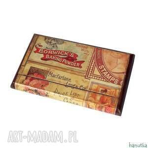 intrygujące etui prezent vintage - wizytownik, na karty