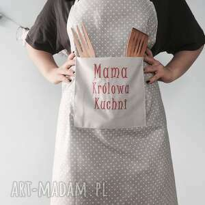 wyraziste haft fartuch mama królowa kuchni