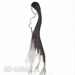 eleganckie obrazy grafiki grafika czarno białą, plat