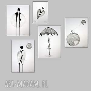 szare obrazy do salonu oryginalna grafika czarno biała
