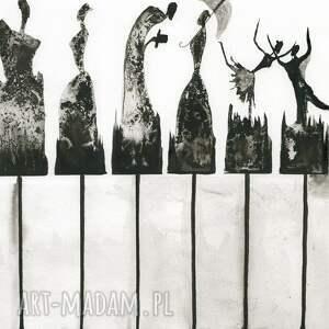 szare grafiki do salonu grafika 30x40 cm wykonana ręcznie