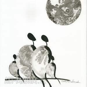 ART Krystyna Siwek grafika 30x40 cm wykonana ręcznie, abstrakcja, elegancki minimalizm, obraz