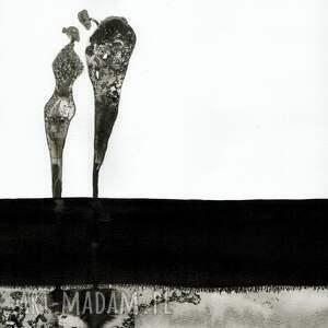 szare grafiki do salonu grafika 50x70 cm wykonana ręcznie