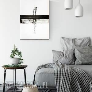 obrazy ręcznie malowane białe grafika 50x70 cm wykonana