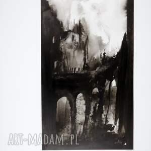 ART Krystyna Siwek grafika 50X70 cm wykonana ręcznie, plakat, abstrakcja, elegancki minimalizm obrazy malowane