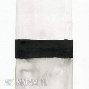 szare obrazy do salonu grafika a4 malowana ręcznie