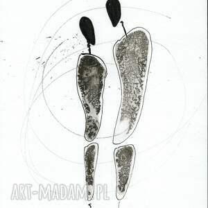 szare grafika abstrakcja-czarny a4, ręcznie malowany, abstrakcja