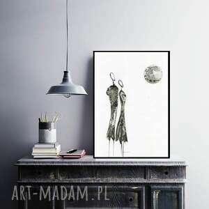 grafika minimalizm a3 - ręcznie malowany, abstrakcja
